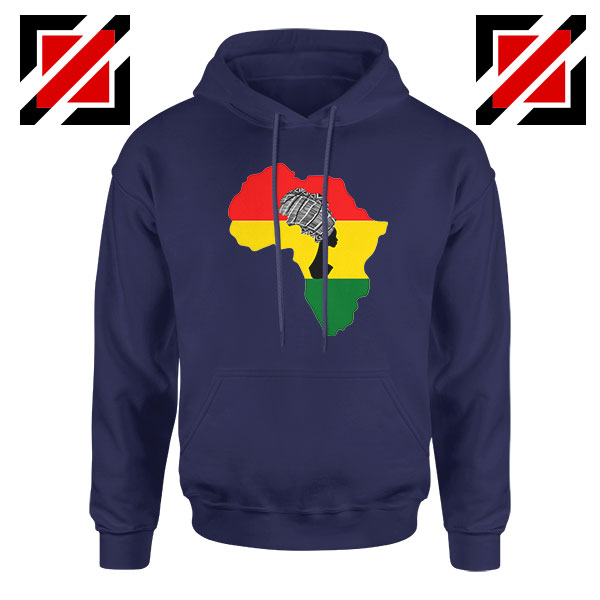 African Black Women Navy Blue Hoodie