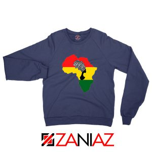 African Black Women Navy Blue Sweatshirt