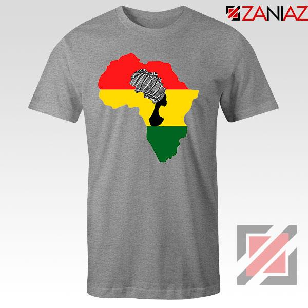 African Black Women Sport Grey Tshirt