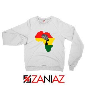 African Black Women White Sweatshirt