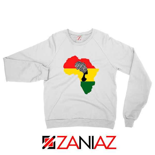 African Black Women White Sweatshirt