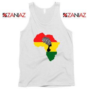 African Black Women White Tank Top