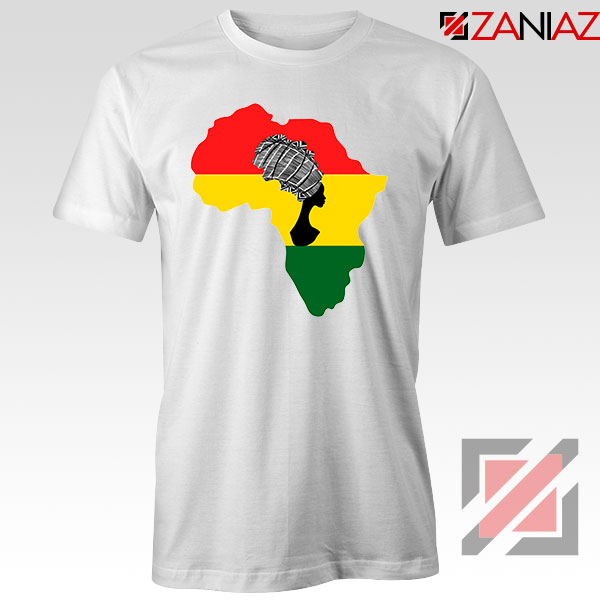 African Black Women White Tshirt