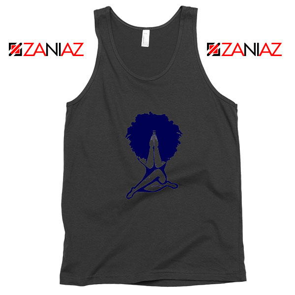 Afro Woman Praying Black Tank Top