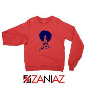 Afro Woman Praying Red Sweatshirt