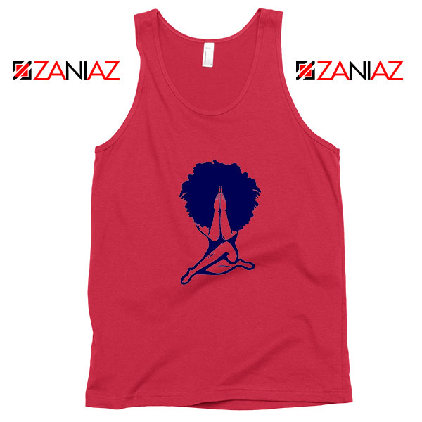 Afro Woman Praying Red Tank Top