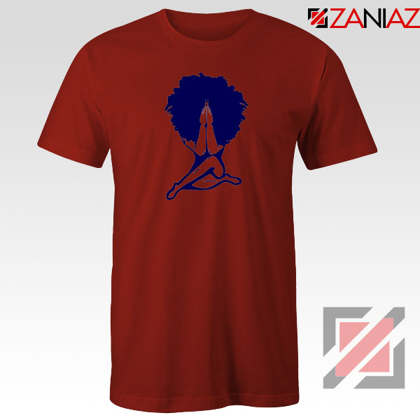 Afro Woman Praying Red Tshirt