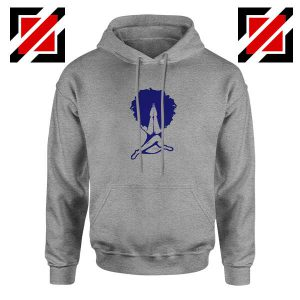 Afro Woman Praying Sport Grey Hoodie