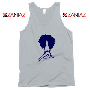 Afro Woman Praying Sport Grey Tank Top