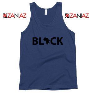 Afrocentrism Navy Blue Tank Top