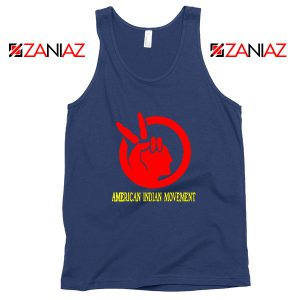 American Indian Movement Best Navy Blue Tank Top