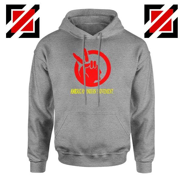 American Indian Movement Best Sport Grey Hoodie