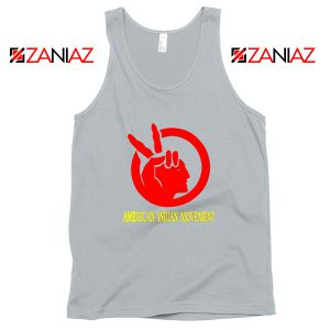 American Indian Movement Best Sport Grey Tank Top