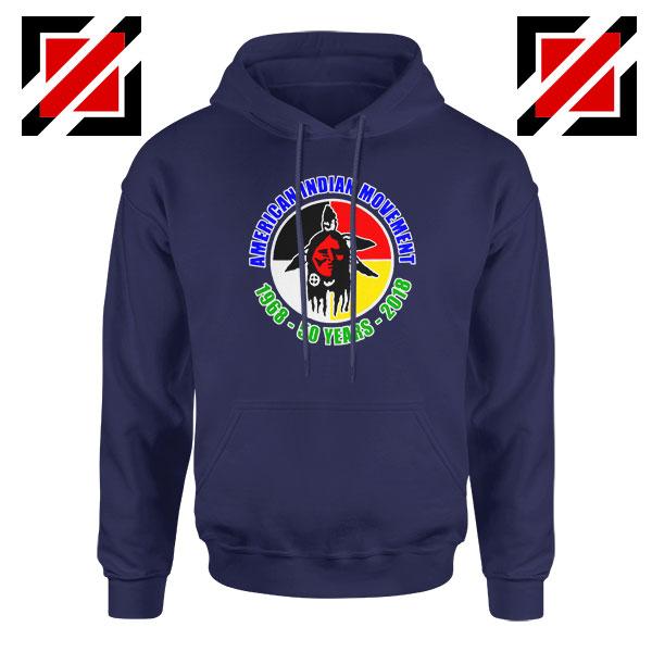 American Indian Movement Navy Blue Hoodie