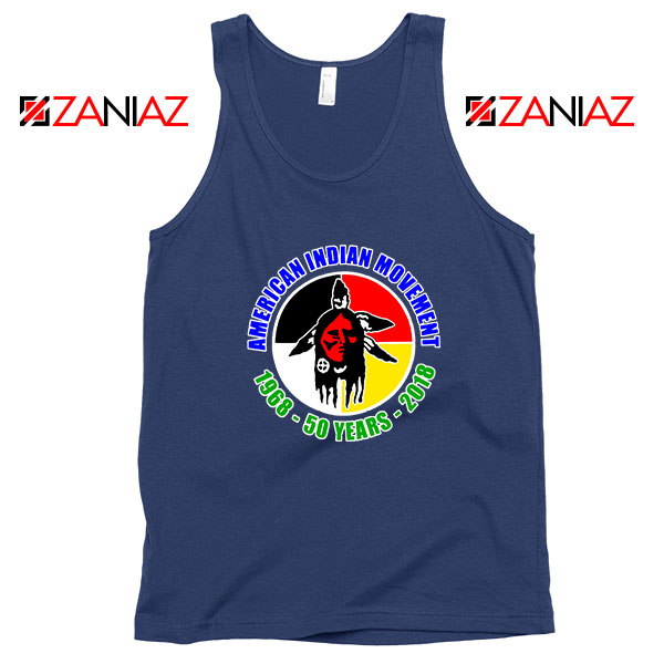 American Indian Movement Navy Blue Tank Top