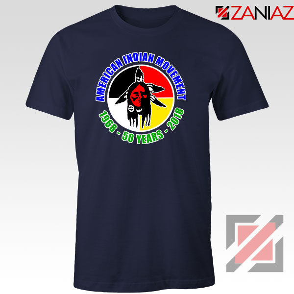 American Indian Movement Navy Blue Tshirt