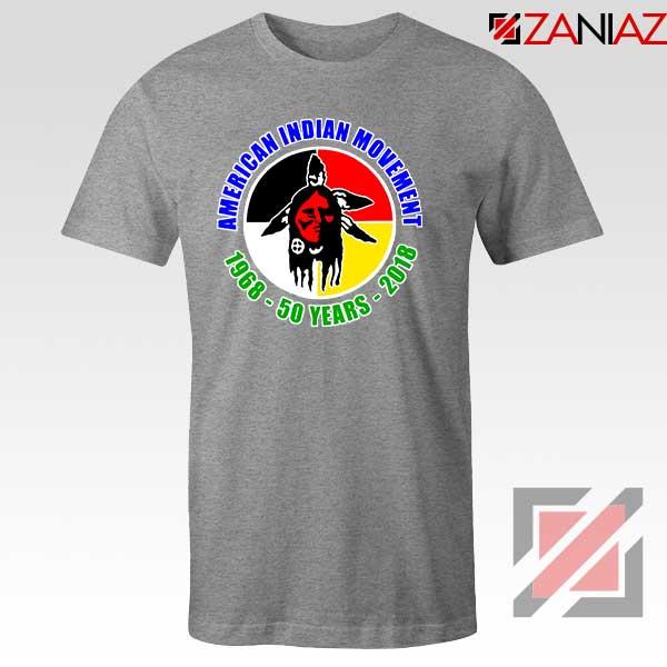American Indian Movement Sport Grey Tshirt
