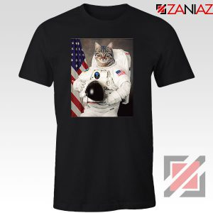 Astronaut Cat Black Tshirt