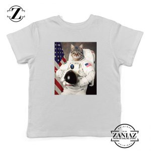 Astronaut Cat Kids Tshirt