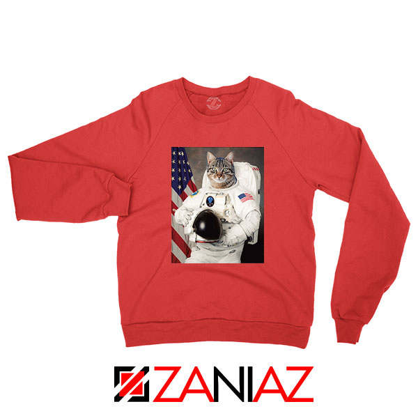 Astronaut Cat Red Sweatshirt