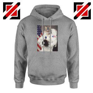 Astronaut Cat Sport Grey Hoodie
