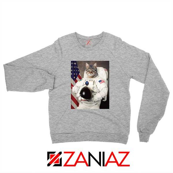 Astronaut Cat Sport Grey Sweatshirt