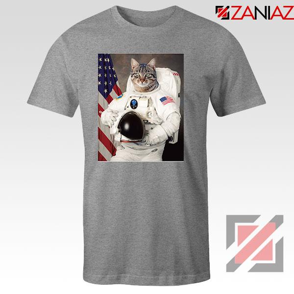 Astronaut Cat Sport Grey Tshirt