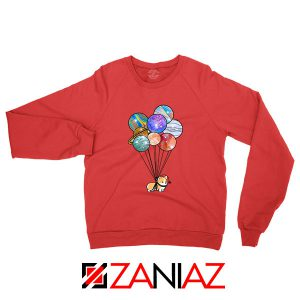 Astronaut Corgi Red Sweatshirt