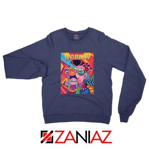 Bad Bunny Concert Poster Navy Blue Sweatshirt