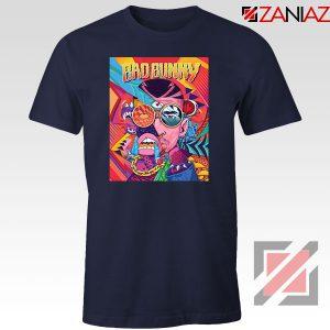 Bad Bunny Concert Poster Navy Blue Tshirt