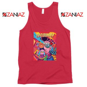 Bad Bunny Concert Poster Red Tank Top