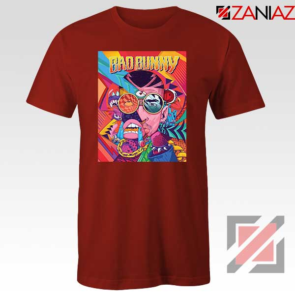 Bad Bunny Concert Poster Red Tshirt