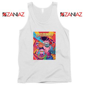 Bad Bunny Concert Poster White Tank Top