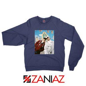 Bad Bunny J Balvin Navy Blue Sweatshirt