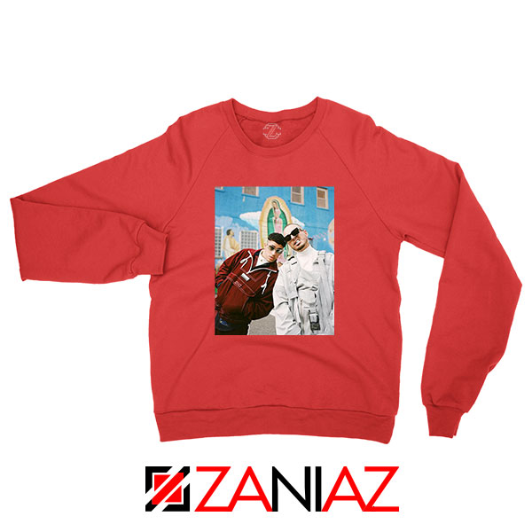Bad Bunny J Balvin Red Sweatshirt