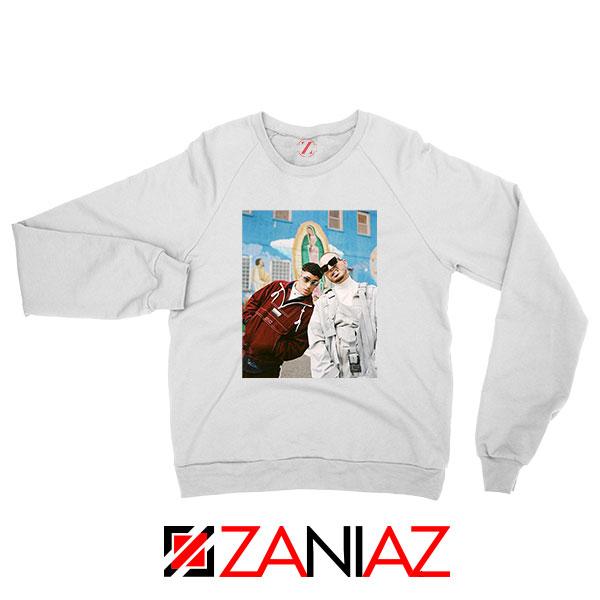 Bad Bunny J Balvin White Sweatshirt