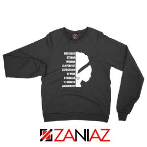 Black Strong Woman Sweatshirt