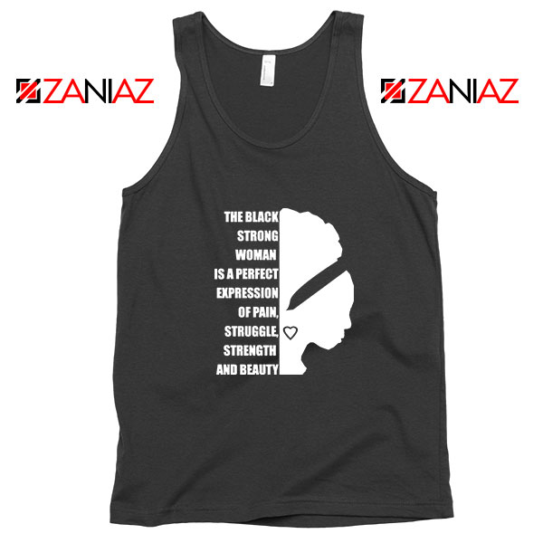 Black Strong Woman Tank Top
