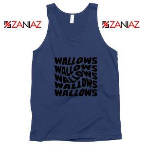 Black Wallows Navy Blue Tank Top