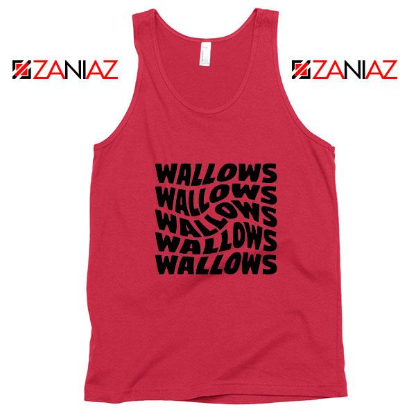 Black Wallows Red Tank Top