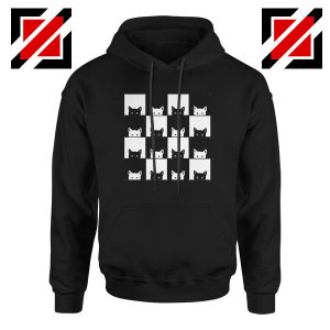 Black White Kittens Black Hoodie