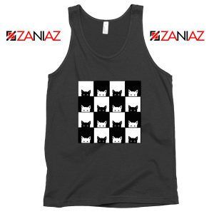 Black White Kittens Black Tank Top