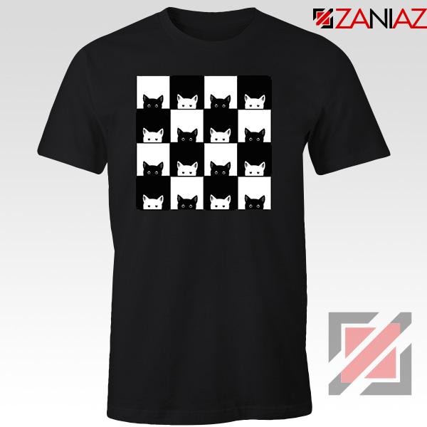 Black White Kittens Black Tshirt