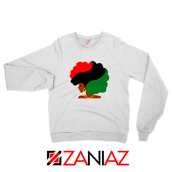 Black Woman Hair Sweatshirt