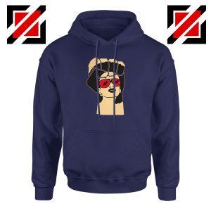 Black Woman Power Navy Blue Hoodie