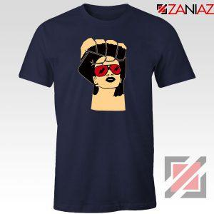Black Woman Power Navy Blue Tshirt