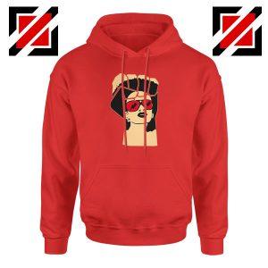 Black Woman Power Red Hoodie
