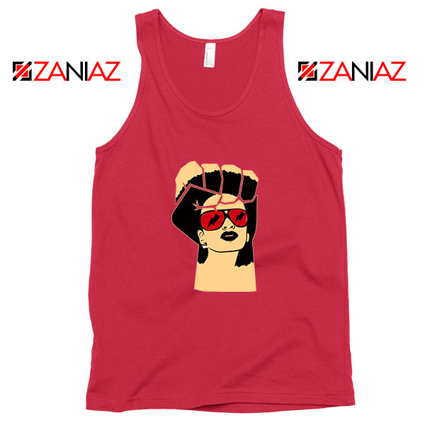 Black Woman Power Red Tank Top