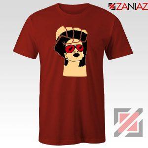 Black Woman Power Red Tshirt