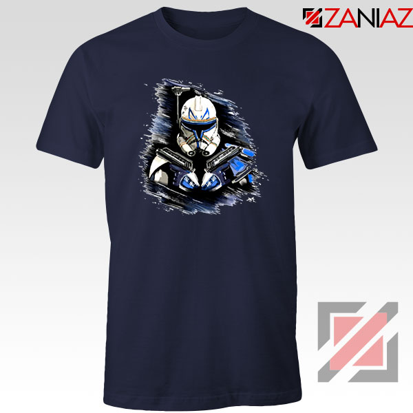 Captain Rex Star Wars Navy Blue Tshirt